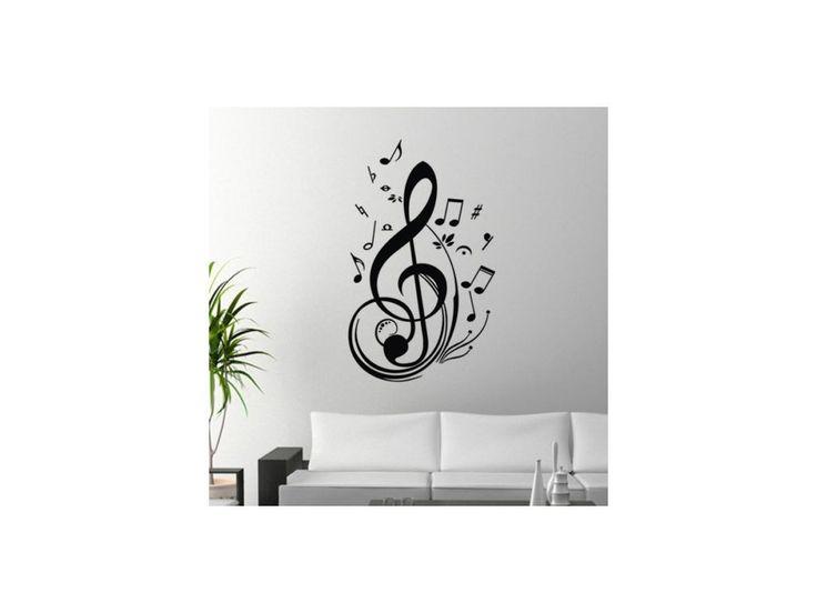 Samolepka na zeď - houslový klíč - HUDEBNIKUM.CZ