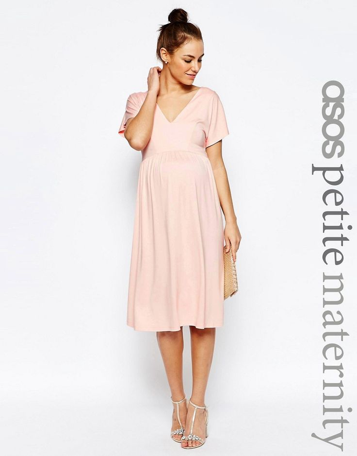 ASOS Maternity PETITE Midi Dress With Flutter Sleeve