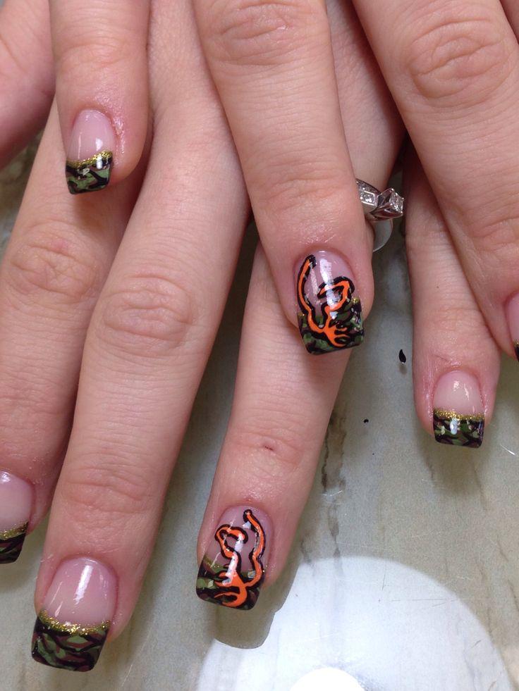 More Camo And Browning Symbol Camo Nails Hair Nails Nail Designs