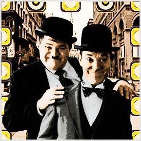 O Gordo e o Magro - Quadrinhos confeccionados em Azulejo no tamanho 15x15 cm.Tem um ganchinho no verso para fixar na parede. Inspirados em atores de cinema. Para entrar em contato conosco, acesse: www.babadocerto.com.br