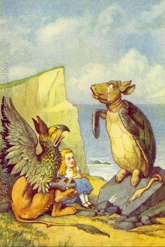 John Tenniel. The Mock Turtle and the Gryphon, illustration from Alice in Wonderland by Lewis Carroll 1832-9