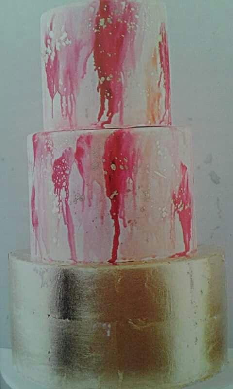 Acquerello. La torta dipinta è l'ultima tendenza.