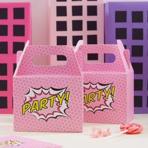 Cajas Superheroes Pink