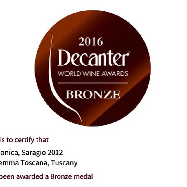 Decanter rewarded SARAGIO 2012 - thank you Nature&Angels&Team for this fabolous wine!