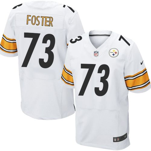 Nike Elite Ramon Foster White Men's Jersey - Pittsburgh Steelers #73 NFL Road