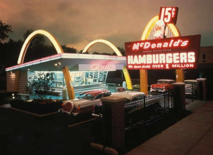 McDonalds-- Brothers Richard and Maurice McDonald founded the most popular fast food restaurant of our day back in 1940. The original mascot was named Speedee, and he was a chef with a hamburger for a head.