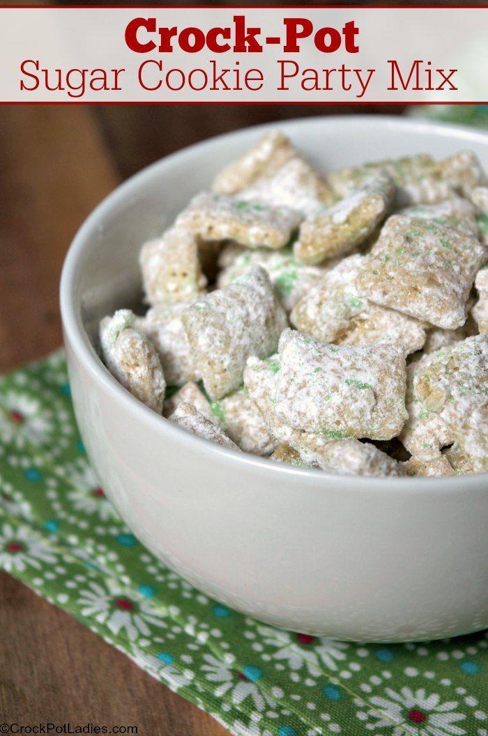 Crock Pot Sugar Cookie Party Mix Recipe Chex Mix Recipes