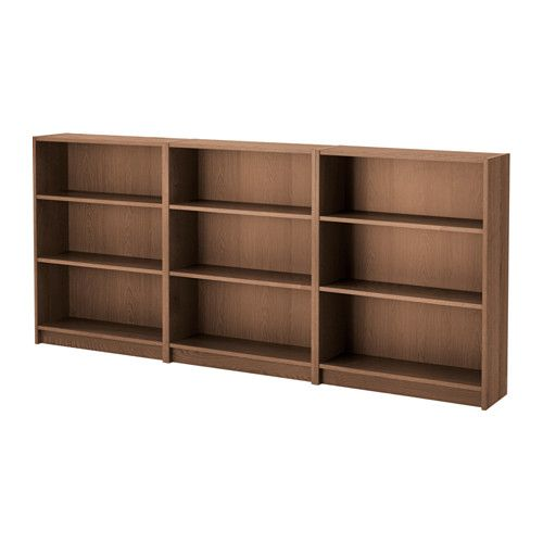 IKEA - BILLY, Boekenkast, bruin essenfineer, , Verstelbare planken; naar behoefte aan te passen.Oppervlak van het natuurmateriaal fineer.