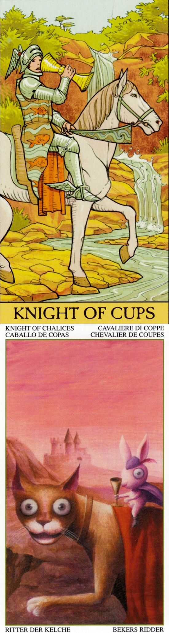Knight of Cups: romance and moodiness (reverse). After Tarot Tarot deck and Magical Tarot deck: tarotunlocking the arcana, taro on line gratis and tarotmucha. The best spells and spelljammer. #skeleton #happyhalloween #Wiccan #tarotspread