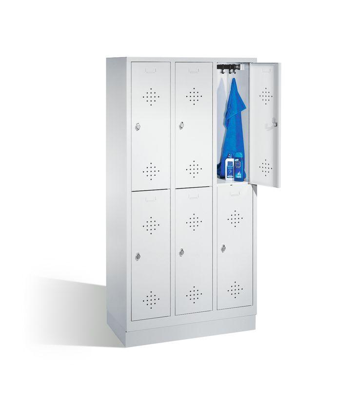 Garderobenschrank aus Stahl, hochwertig und robust in verschiedenen Breiten, Farben und mit Zubehör. Garderobenschränke unkompliziert auf Rechnung kaufen.