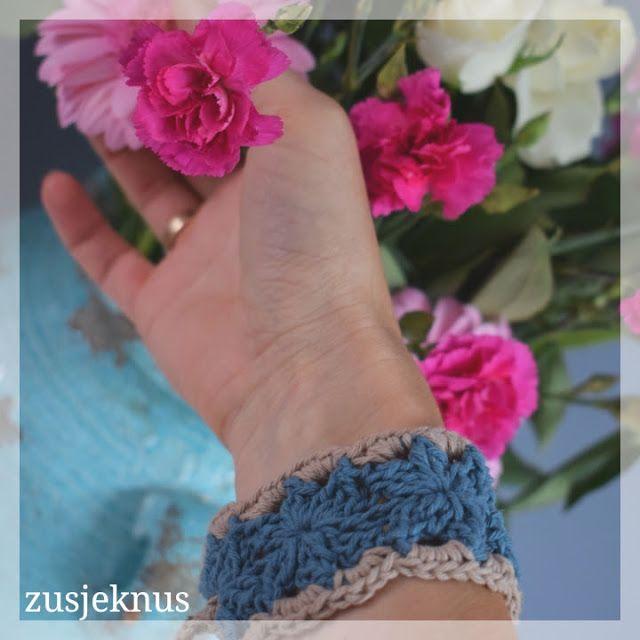 Gehaakte armband.  Crochet bracelet