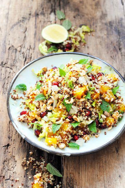 Dorian cuisine.com Mais pourquoi est-ce que je vous raconte ça... : Quand la chaleur monte opération fraîcheur en cuisine ! Salade aux deux quinoas fruités et acidulés... pour faire descendre la température...