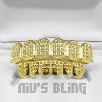 Geek | 14K Gold Iced Out GRILLZ Lemonde CZ Premium Tooth Mouth Teeth Caps HipHop Grills