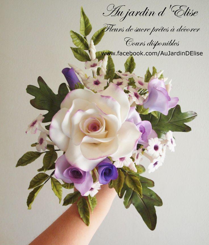 Wedding bouquet - Sugar flowers from www.facebook.com/AuJardinDElise