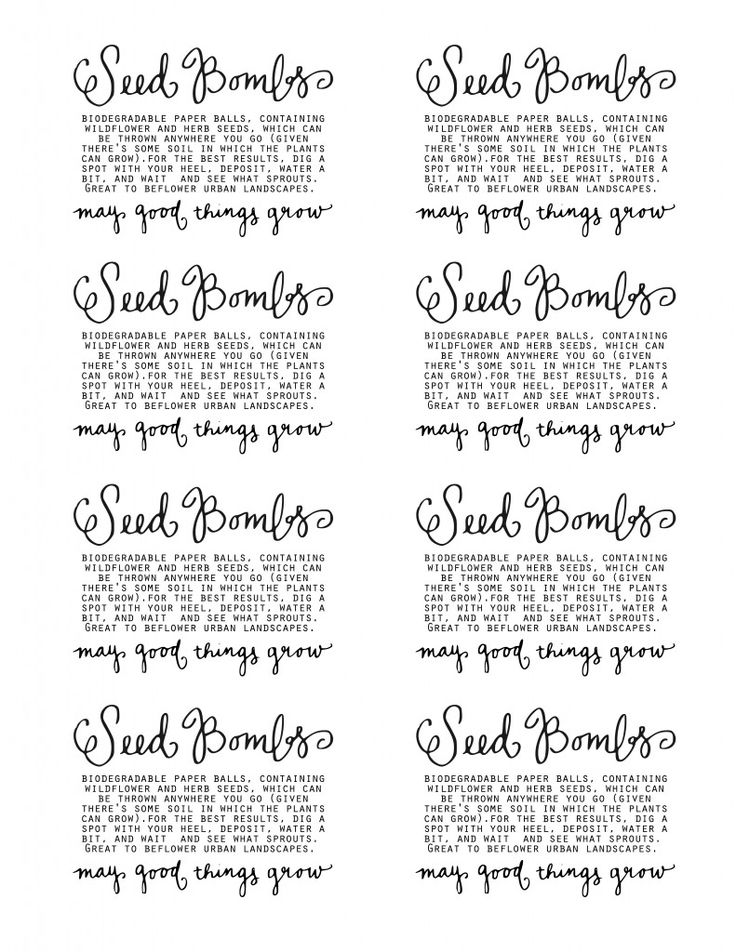 seed bomb labels | Garden - Plant Sale | Pinterest