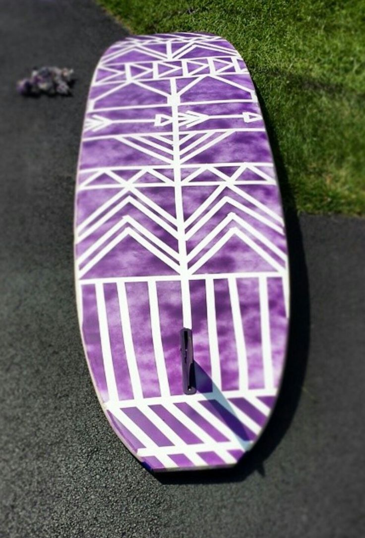 DYI custom SUP. All you need is waterproof spray paint, masking tape, and your imagination!