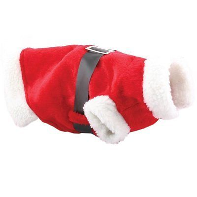 Dog Cat Christmas Outfit Santa Suit Doggy Clothes Pet Accessory Xmas Small Coat