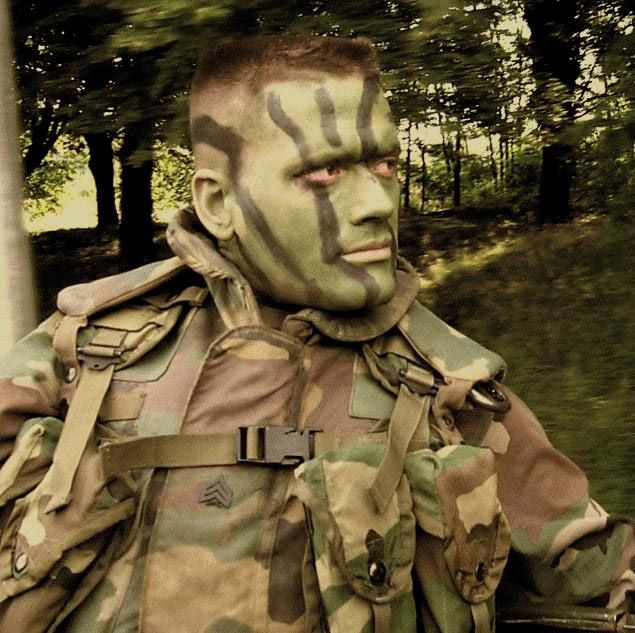 How to Apply Camouflage Face Paint