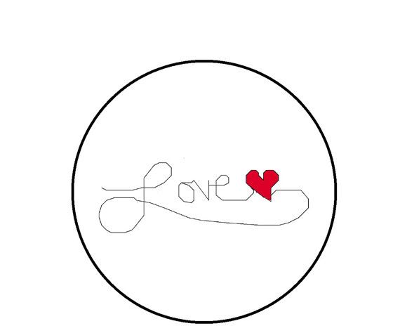 Love Counted Cross Stitch Pattern Simple by CrossStitchDiva, $3.30