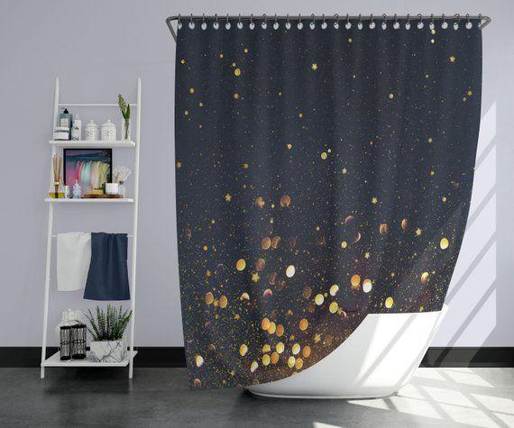Night Sky Shower Curtain Gray Purple Lush Decor Modern Shower