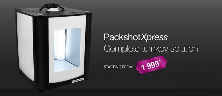 PackshotXpress, the complete photo studio to mount to instantly get great product pictures on a homogeneous white background. Starting from 1999 € on!  More info about the product: http://store.packshot-creator.com/collections/packshotstart-range/products/economic-photo-studio-packshotxpress