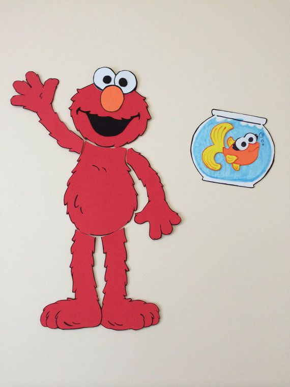 sesame street elmo child toddler bedroom by stinascraftdesigns