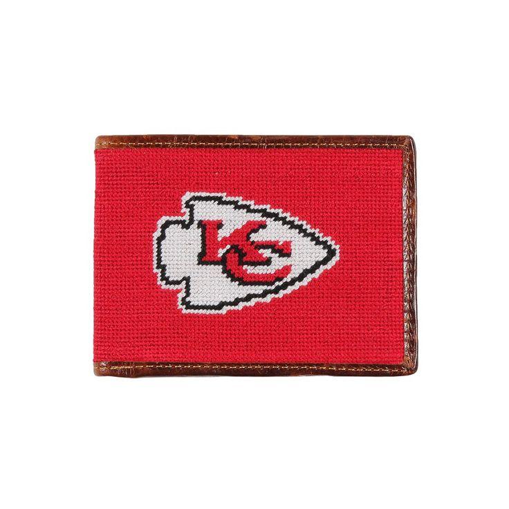 Kansas Chiefs Needlepoint Wallet by Smathers & Branson