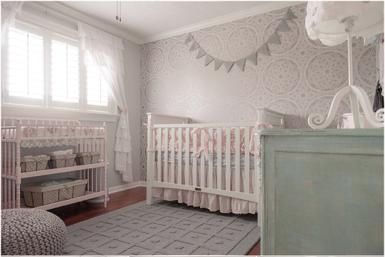 3 Rules for Mixing & Matching Nursery Furniture: Soft pastels tie this collection of mismatched furniture together perfectly.