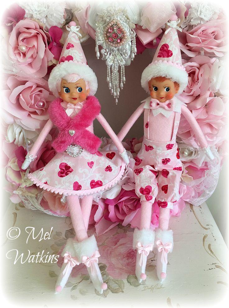 Pink Valentine's day Elf couple Mel Watkins My creations - photo#8