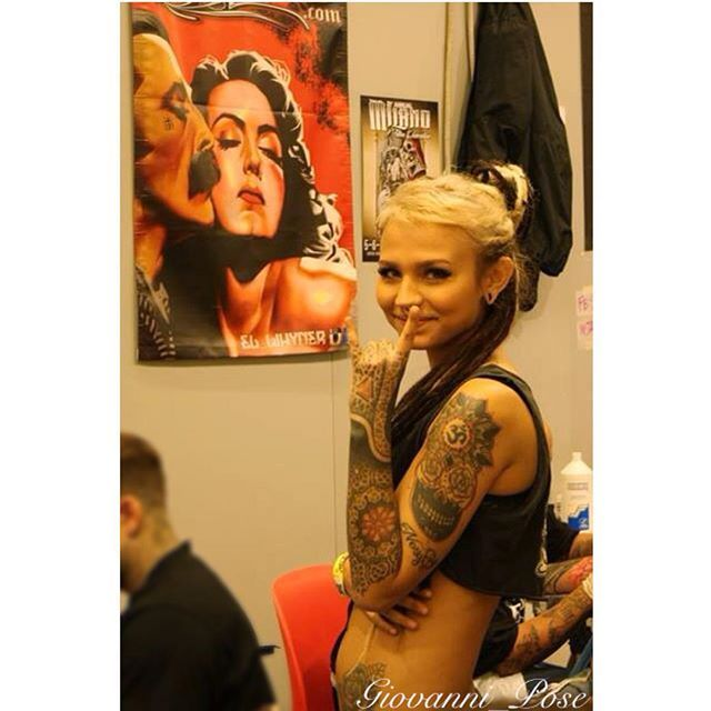 Image from Italy, Firenze  Florence Tattoo Convention  #imagefromitaly#tattoo#florencetattooconvention#firenze @fishball_suicide @suicidegirls