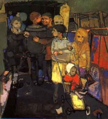 Glasgow children by Joan Eardley (1921-1963)