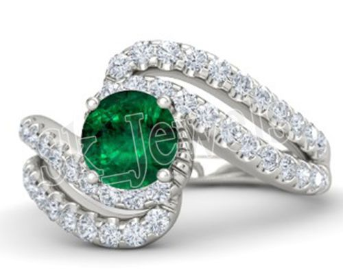 Diamond Emerald Ring by sk_jewels