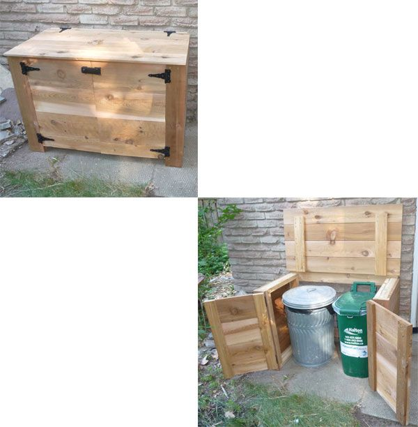how to build a garbage bin