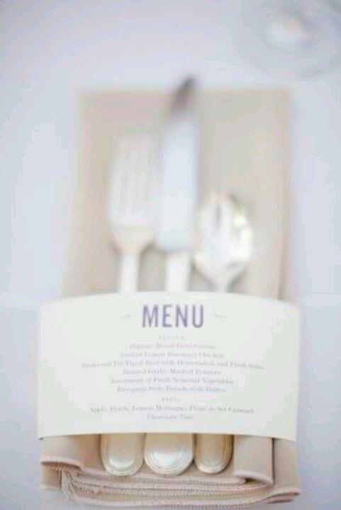 Wedding menu idea beautiful
