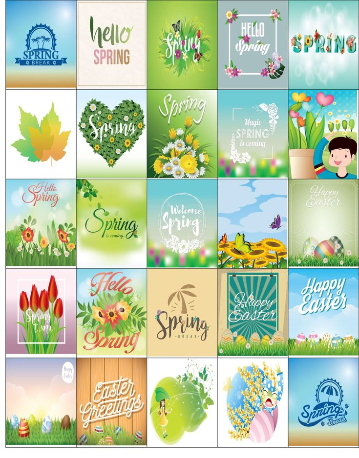Free Printable-25 Spring Stickers For Your Happy Planner or Erin Condren Planner