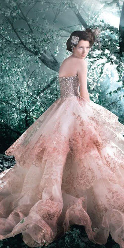18 peach blush wedding dresses you must see michael cinco
