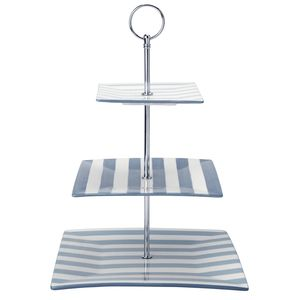 Southsea Stripe 3-Tier Cake Stand