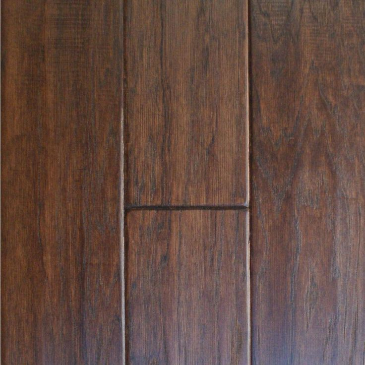 Handscraped Hickory Cocoa (Brown) 1/2 in. Thick x 5 in. Wide x Random Length Engineered Hardwood Flooring (31 sq. ft. / case)