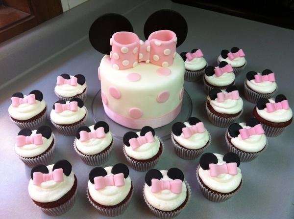 Minnie Cake  Cupcakes.