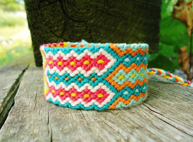 Aztec Triangle Cuff Friendship Bracelet. | Beads & more