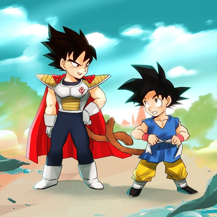 Kid Goku and Vegeta - Visit now for 3D Dragon Ball Z compression shirts now on sale! #dragonball #dbz #dragonballsuper