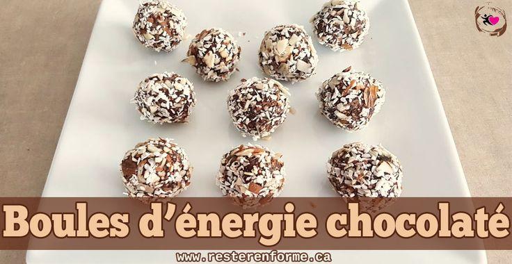 Boules d'énergie chocolat et coconut