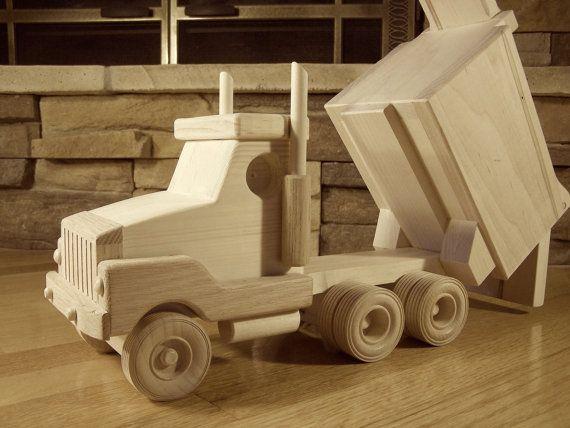 Handmade Wooden Dump Truck Toy by KringleWorkshops on Etsy