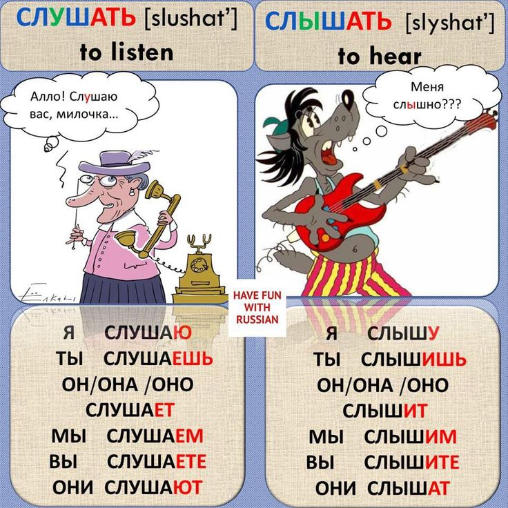 Differences in Russian
