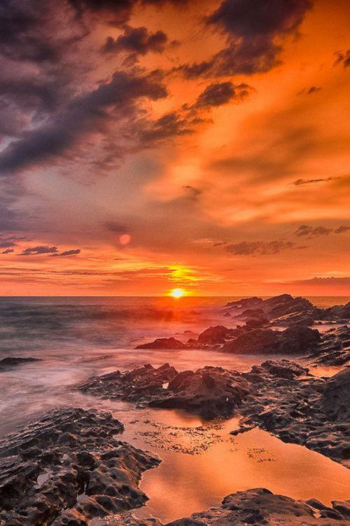 Sunsetat Karang Taraje, Bayah, West Java, Indonesia  (by Daniel Karamoy on 500px)