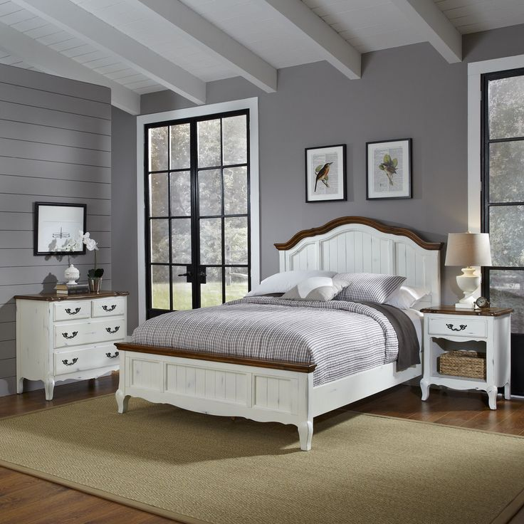 The french countryside king bed night stand and chest overstock shopping