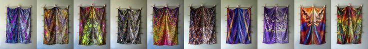 2 Crepe de Chine silk scarves have been bought from this set of 10 by a client in Turin for himself and his young family - along with 2 others that are now SOLD OUT...