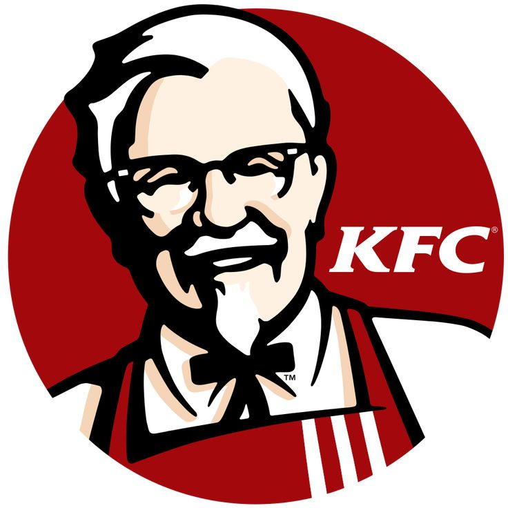 In the KFC logo the main colour is Red which symbolises Hunger /  appetite, which for the viewer would trigger their appetite drawing them towards the branding.