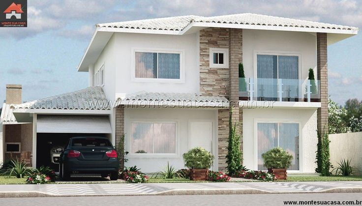 Planta de Sobrado - 5 Quartos - 218.83m² - Monte Sua Casa