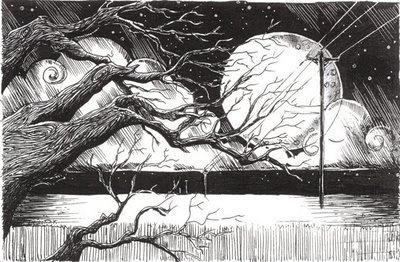 pen and ink scene: Pen Sketch, Sketches P, Pens Sketch